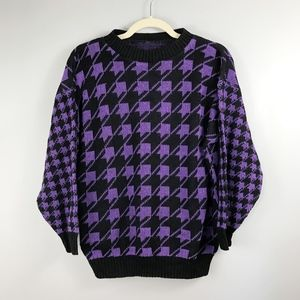 VINTAGE 90s Houndstooth Sweater